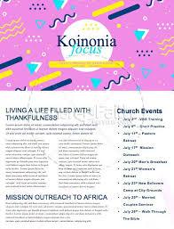 Vacation Bible School Newsletter Template Template Newsletter