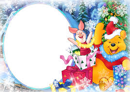 Christmas Photo Frames For Kids Large Christmas Kids Frame With Winnie The Pooh Gallery