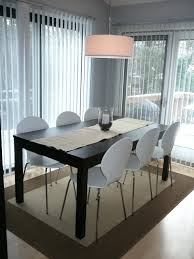 Dining Room Sets Black Wooden Table Set White Chairs Metal Stand Tables  Small Spaces Furniture Ikea