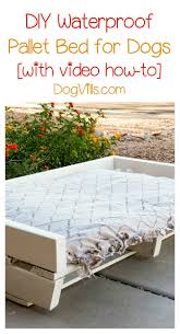 diy waterproof pallet dog bed project