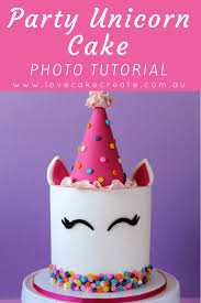 how to make a party unicorn cake by love cake create