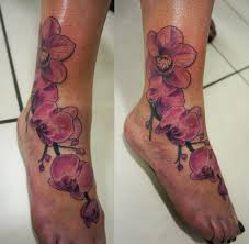 татуировка на ступне у девушки орхидея фото рисунки эскизы