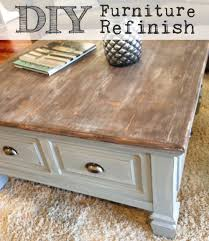 cool how to refinish a coffee table on a budget