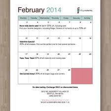 Calendar For Village Maternity Groovetrotter Designs