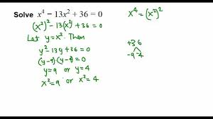 solving a 4th degree poly equation college algebra