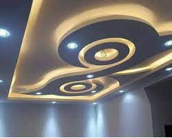 Fluid false ceiling with integrated elements Pop False Ceiling Designs Latest 100 Living Room Ceiling With Led Lights 2020