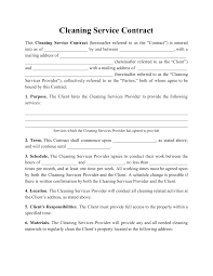 Subscribes to such services, pursuant to the charges. Cleaning Service Contract Template Download Printable Pdf Templateroller