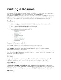 What Should I Put In A Resumes Meloyogawithjoco Amazing What Do You Need To Put In A Resume