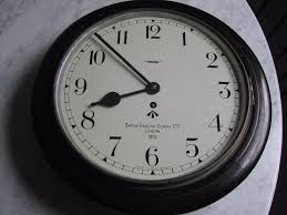 british army issue wall clock dated