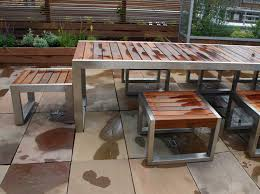 metal and wood garden table. metal and wood garden table s