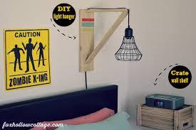 simple bedroom for teenage boys. Eclectic Teen Boy Bedroom Makeover - Diy Wall Light Hanger Crate As Shelf Simple For Teenage Boys