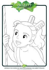 Coloriage Arrietty Le Petit Monde Des Chapardeurs Imprimer