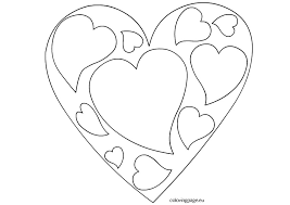 Small Picture Valentines Day Heart coloring page