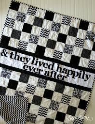 Black and White Wedding Quilt & They lived Happily Ever After ... & Quilt- Wedding quilt- From SewEMG- The Original Personalized Signature  Wedding Quilt- Black White wedding Quilt- Happily Ever Adamdwight.com
