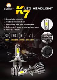 Xe Ô Tô Xe Máy Xe Led Đèn Pha Giá Tốt Nhất K7 Chiếu Sáng Xe C6 Thay Thế Mới  48 Wát Cob Led Đèn Pha Với Fan Hâm Mộ - Buy