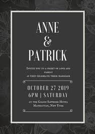 invitation templates canva Gothic Wedding Invitations Templates line art floral gothic black and white wedding invitation portrait gothic wedding invitations templates
