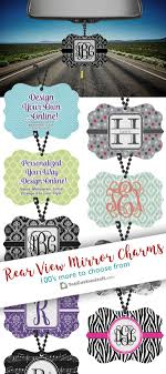 Design Your Own Style Online Design Your Own Personalized Rear View Mirror Charm Car