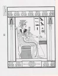 Ancient Egypt Nefertari Coloring Page Coloring Pinterest