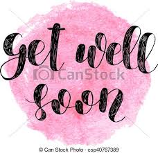 Get Well Soon Poster Get Well Soon Brush Lettering