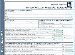 Formato De Factura De Exportacion Formulario 210 Iva Exportadores Bolivia Impuestos Blog