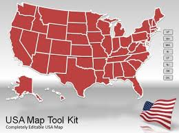 Usa Map For Powerpoint Us Map Powerpoint Template