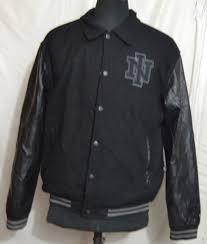 nine iron men s varsity jacket with leather sleeves m f 68 1 1 kg