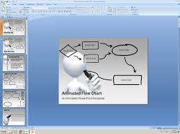 Powerpoint Animated Presentation Template Flow Chart Get