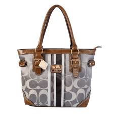 Discount Coach In Signature Medium Grey Totes Bey Outlet 4xF0O