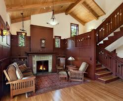 Mission Living Room Furniture Craftsman Style Living Living Room Craftsman With Built In Display