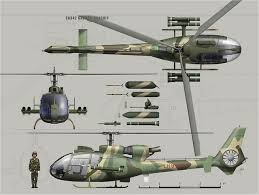 Helicopter Recognition Chart Sa342 Gazelle Sa341 Light Multi Role Combat Helicopter