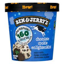light ice cream chocolate cookie