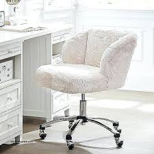 fuzzy white erfly chair cover alund co for furry desk plans 7