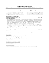 Telecom Manager Resume Resume For Your Job Application