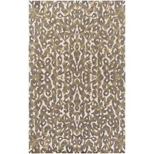 artistic weavers geology addison gray and yellow rectangular 4 ft x 6 ft rug