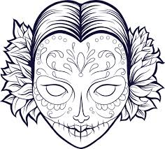 Small Picture Sugar Skull Coloring Pages Pdf Coloring Coloring Pages