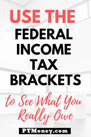federal ine tax brackets 2020 and