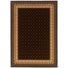 sapphire fleur de lis chocolate 5 ft x 8 ft area