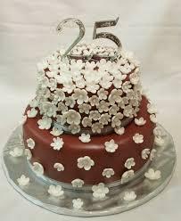 Wedding Cakes 25th Anniversary Cake Chocolate