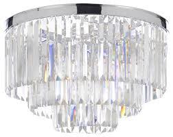 amazing flush mount chandelier glass fringe odeon empress 3 tier flush mount chandelier chrome