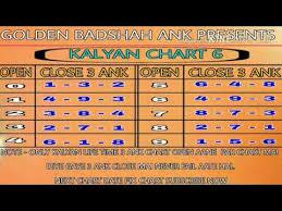 Kalyan Daily 4 Ank Life Time Chart Kalyan Chart 6 Golden Badshah Ank Presents New Chart 1 Baar