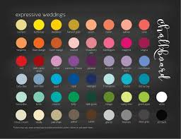 Wedding Color Chart Color Chart Chalkboard Sign Printable Wedding Sign Wedding