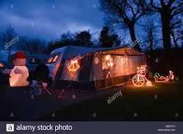 Camping Christmas Lights Christmas Lights On A Caravan At The Tavistock Camping And