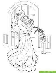 Tranh tô màu công chúa sành điệu - Jadiny