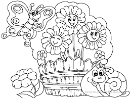 Simple Garden Coloring Pages - GetColoringPages.com