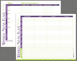 Food Plan Template Printable Meal Prep Templates And Meal Planning Tips Grassfed