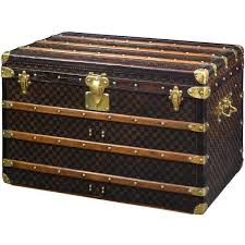 vintage louis vuitton trunk. antique louis vuitton damier trunk ❤ liked on polyvore featuring home, home decor, small vintage o