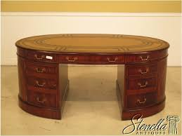maitland smith 3 part leather top gany executive desk