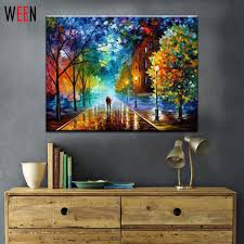 ween rural landscape painting by number diy oil paint 40x50cm canvas art walks in the