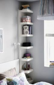 stunning elegant gray wall paint and corner tall low profile nightstand with wall mounted nightstand ideas