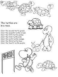 math activity pages - ordinal numbers, following directions ...